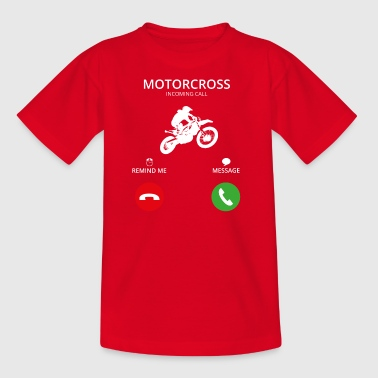 Appel Appel mobile moto motard moto-cross - T-shirt Enfant