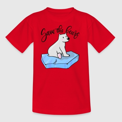 Save the bears - Rettet die Bären - Kinder T-Shirt
