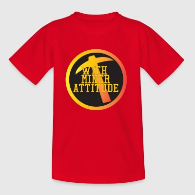 Mining Miner With Attitude - Kinderen T-shirt