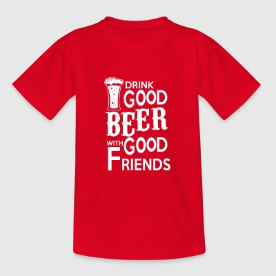 Drinkgood BEER with good friends - Kids' T-Shirt