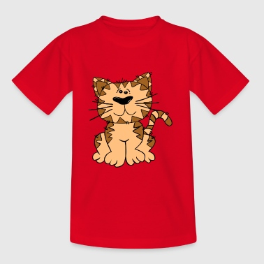 Brown cat - Kids' T-Shirt