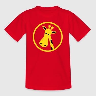 Cartoon Giraffe Head - Kids' T-Shirt