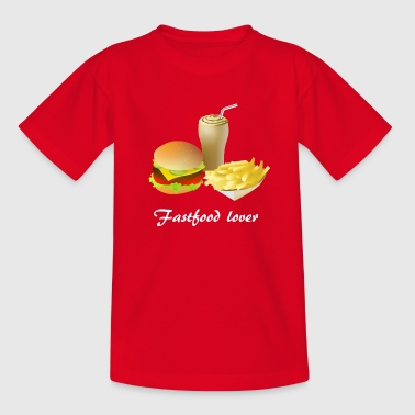 Fastfood lover - unhealthy and still horny - Kids' T-Shirt