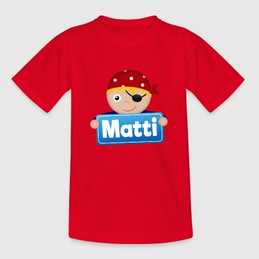 Little Pirate Matti - Kids' T-Shirt