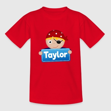 Little Pirate Taylor - Kids' T-Shirt