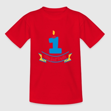 first birthday - Kids' T-Shirt