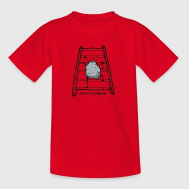 rock climbing - humor - Kids' T-Shirt