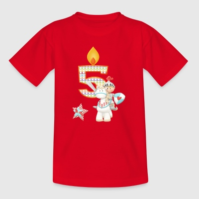 Birthday Number 5 Prince Knight Horse Boy - Kids' T-Shirt