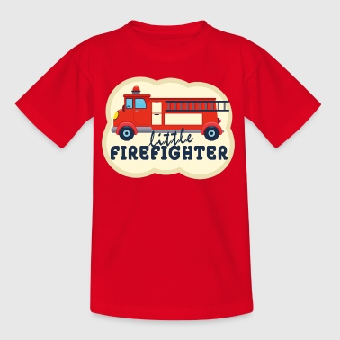Firefighters 112 delete rescue children fire truck - Kids' T-Shirt
