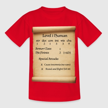 Level 1 Human - Kinder T-Shirt