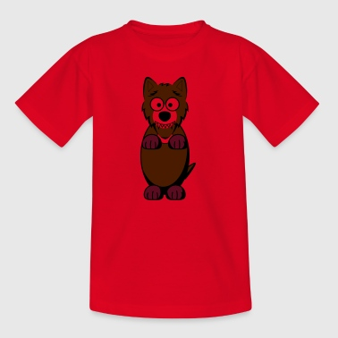 wolf in braun - Kinder T-Shirt