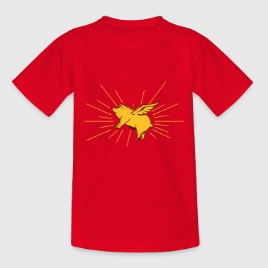 Flying pig - Kids' T-Shirt