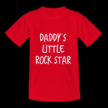 Daddy's Little Rock Star - Camiseta niño
