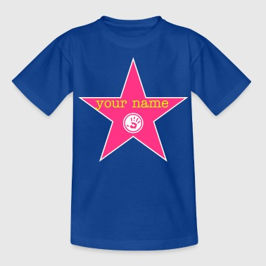 walk of fame + your name - Teenager T-Shirt