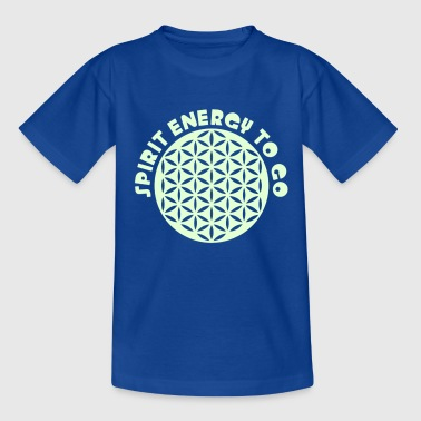 Lebensblume Spirit FLOWER OF LIFE - SPIRIT ENERGY TO GO - punched - Teenager T-Shirt