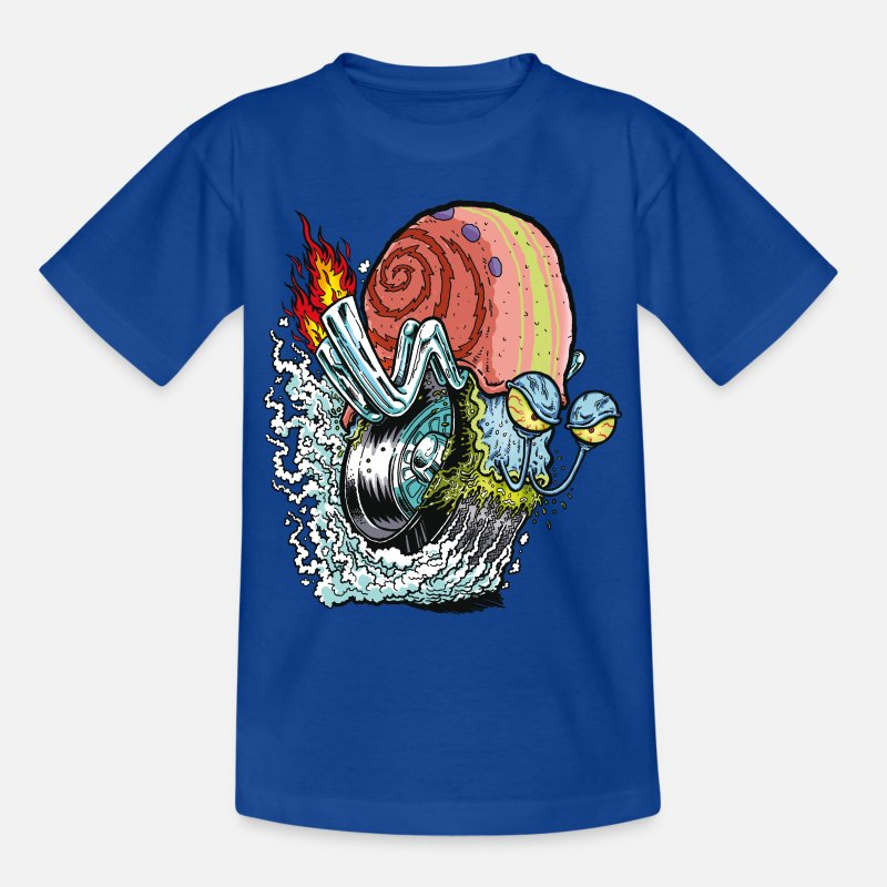 Officialbrands Magliette - Teenagers' Shirt SpongeBob Snail Gary Gary - T-Shirt per ragazzi blu royal