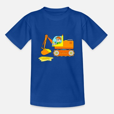 Construction Site Excavator on the construction site - vehicle construction site - Teenage T-Shirt