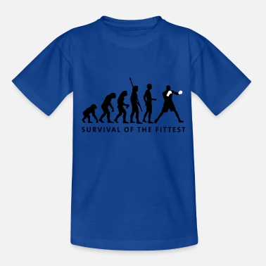 Boxing Evolution evolution_boxen_2c - Teenage T-Shirt