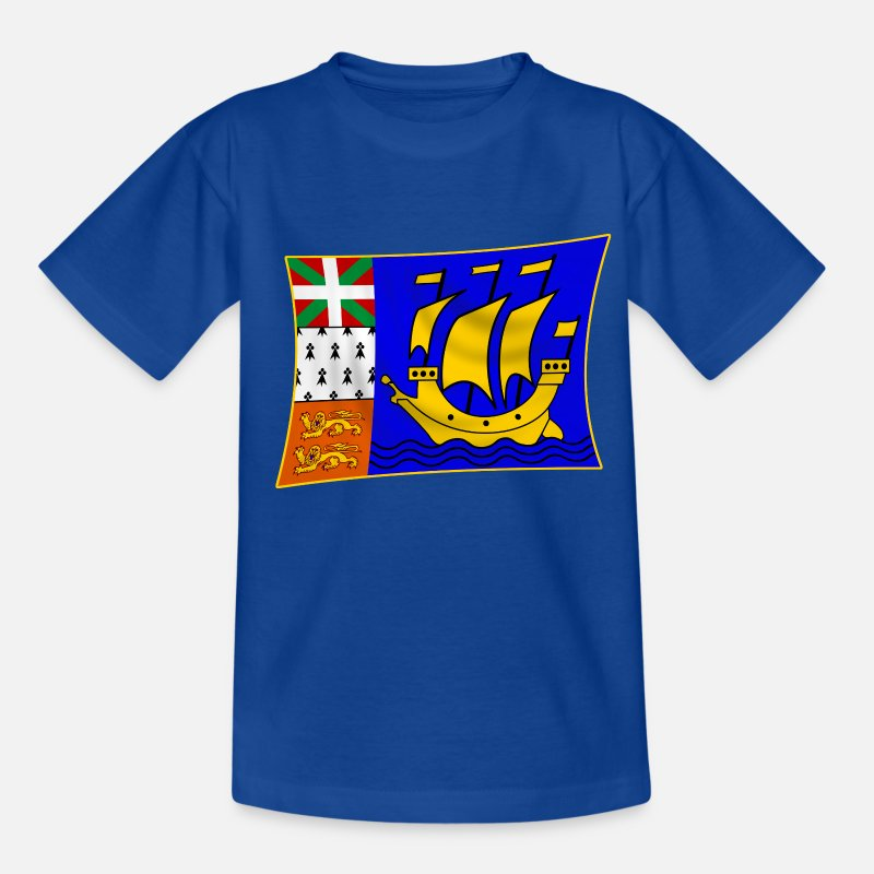 Pierre T-shirts - saint-pierre-et-miquelon - T-shirt Ado bleu royal