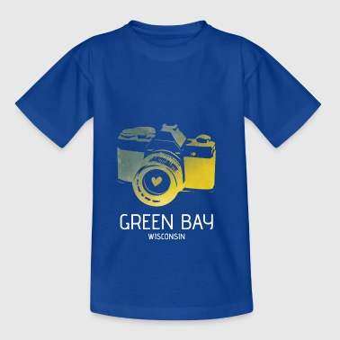 Green Bay camera with heart - Teenage T-Shirt