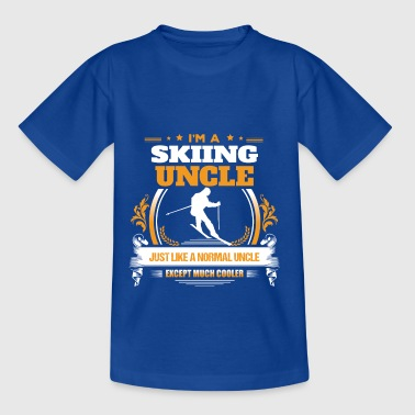 Skiën oom Shirt cadeau idee - Teenager T-shirt