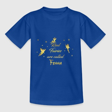 fee fairies fairy vorname name Fenna - Teenager T-Shirt