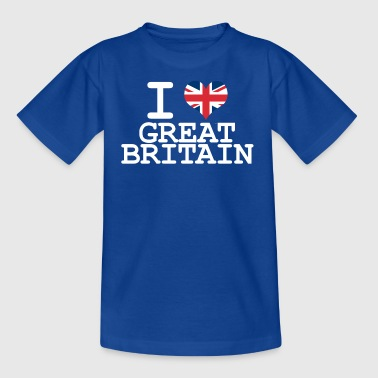 i love Great Britain - Teenage T-shirt