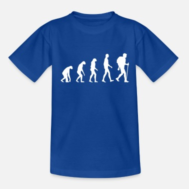 Evolution Wanderer Evolution wandern - Teenager T-Shirt