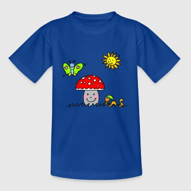 Happy mushroom in the sun - Teenage T-Shirt