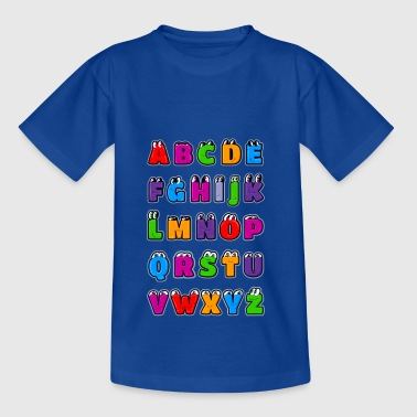 Alphabet letters Kawaii ABC for children. Drawings - Teenage T-shirt
