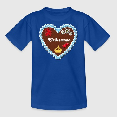 Lebkuchenherz Herzbub + Dein Text / Gingerbread heart hearts - Teenager T-Shirt