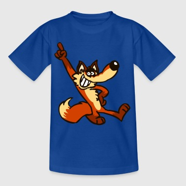Cartoon Fox Strut by Cheerful Madness!!  - Teenage T-shirt