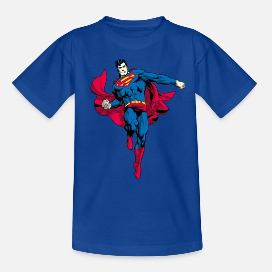 Dc Comics T-shirts - Superman Pose Teenager T-Shirt - Teenager T-shirt koningsblauw