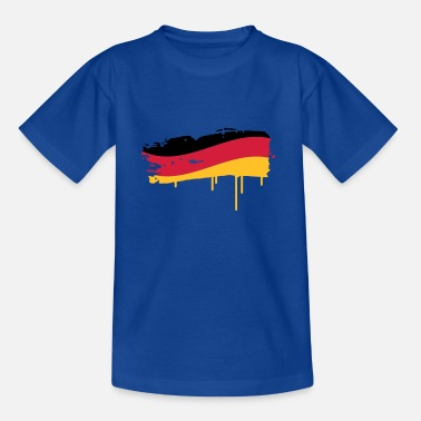 Paint Brush Germany flag painted with a brush stroke - Teenage T-Shirt