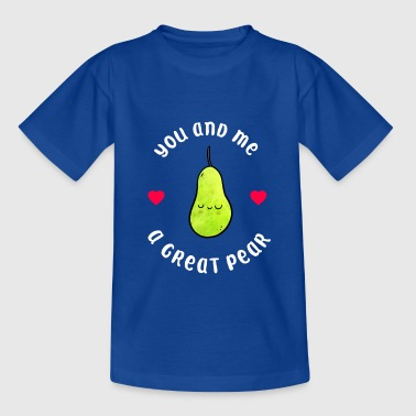 Pear couple friends friendship cute - Teenage T-Shirt