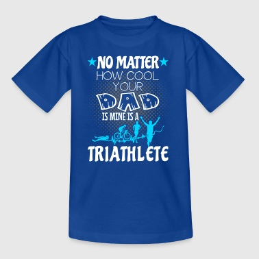 Triathlon - Min far er triatlet - Teenager-T-shirt