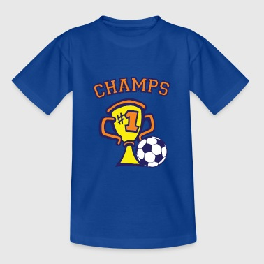 Fodboldkamp champs - Teenager-T-shirt