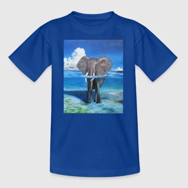 Afrikaanse olifant in water - Teenager T-shirt
