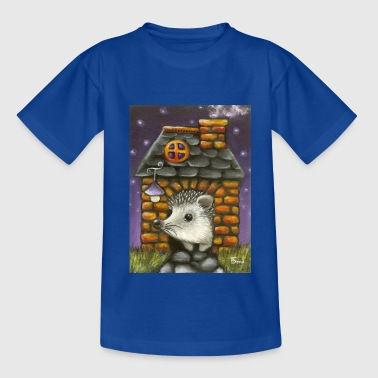 hedgehog in his cosy little home - Teenage T-Shirt