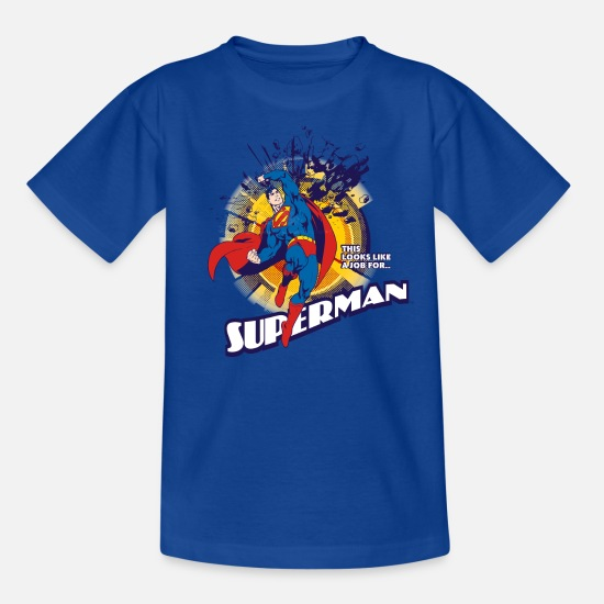 Officialbrands T-shirts - Superman Look like a job Teenager T-Shirt - Teenager T-shirt koningsblauw