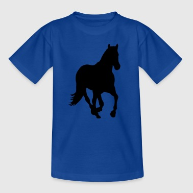 Wild Horse Horse pony riding wild horse rider - Teenage T-Shirt