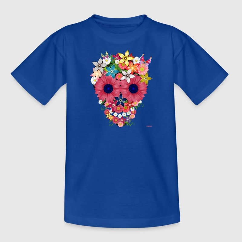 skull flowers by WAM - T-shirt Ado