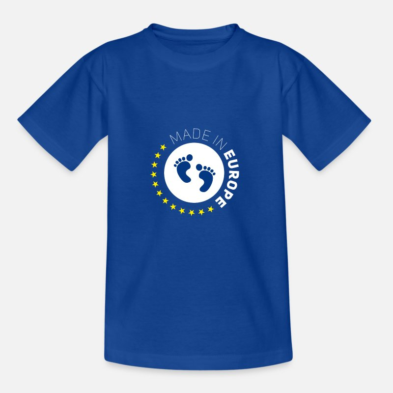 Bestsellers Q4 2018 T-Shirts - made in Europe EU love baby birthdays euro - Teenage T-Shirt royal blue
