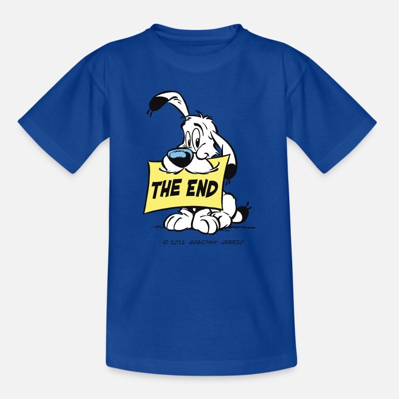 Officialbrands T-paidat - Asterix & Obelix - Idefix 'The End' Teenager T-Shi - Teinien t-paita kuninkaallinen