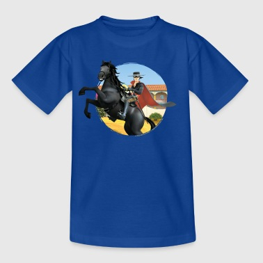 Zorro The Chronicles Riding Horse Tornado - Teenage T-Shirt