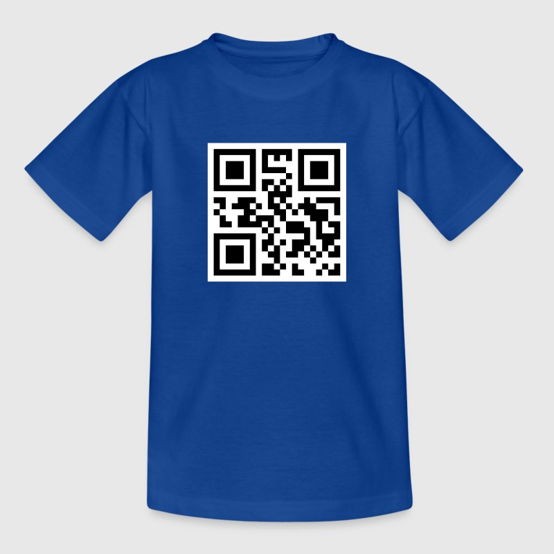 QR-CODE: STUPID NERD!!! - Teenager T-Shirt