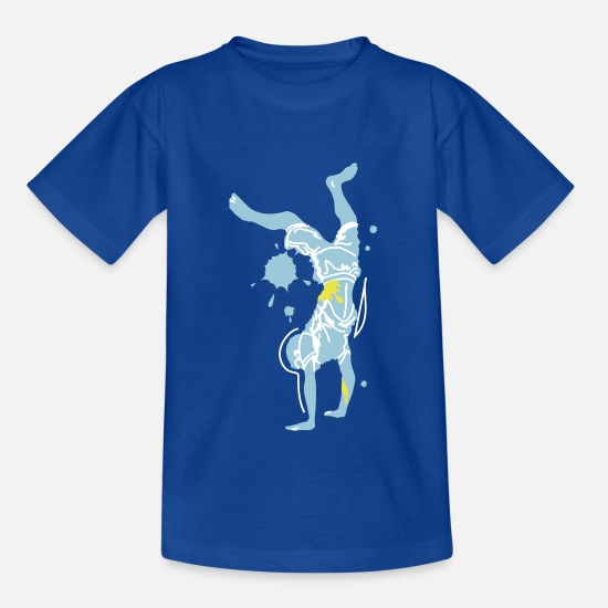 Dance T-Shirts - Break Dance 1 - Teenage T-Shirt royal blue