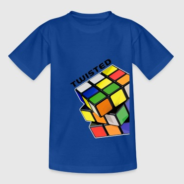 Rubik's Cube Twisted Sides - Teenager T-shirt