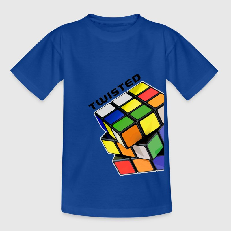 Rubik's Twisted Cube tilted - Teenage T-shirt