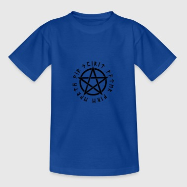 Pentagram, pentacle, magic, symbol, runes - Teenage T-Shirt